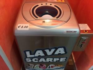 macchinario lava scarpe